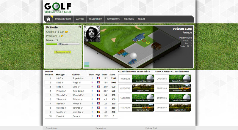 Virtual Golf Club : jeu en ligne dans l'univers du golf