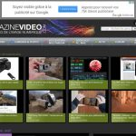 Accueil du site Magazinevideo.com en version desktop