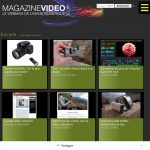 Accueil du site Magazinevideo.com en version tablette
