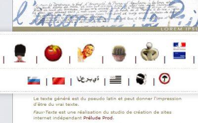 Générateur de faux textes (Lorem Ipsum)